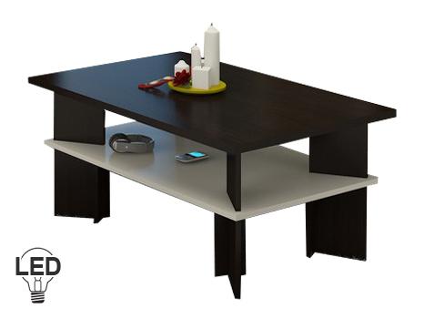 Konferenční stolek - WIP - Vectra 2 (wenge + krém)