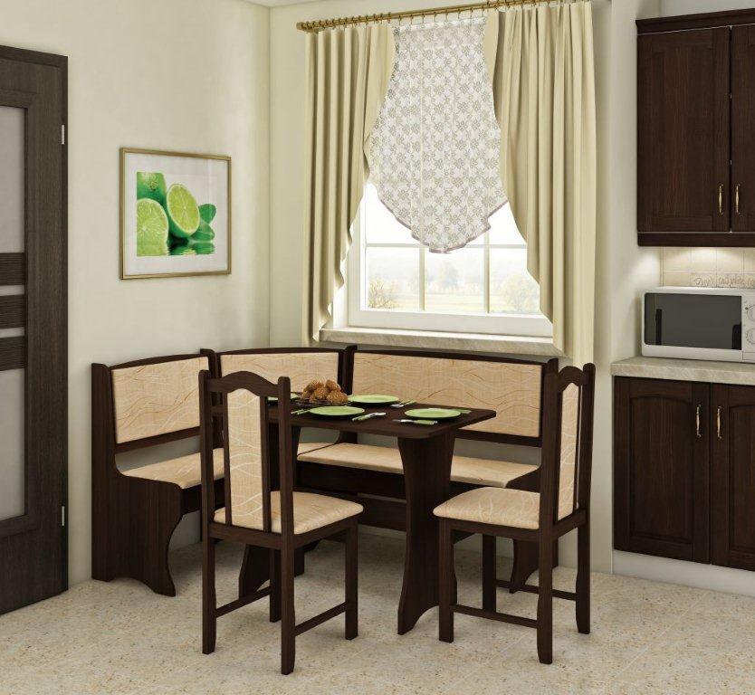 Rohový jídelní set - WIP - Komplet 2 (pro 5 osob)